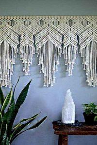 پرده تزئینی مکرومه بافی