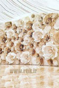 گل های کاغذی ویژه پس زمینه استودیو عکاسی/